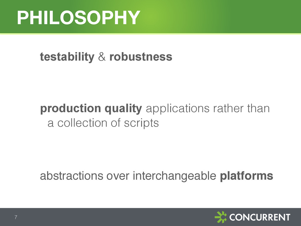 testability & robustness production quality app...
