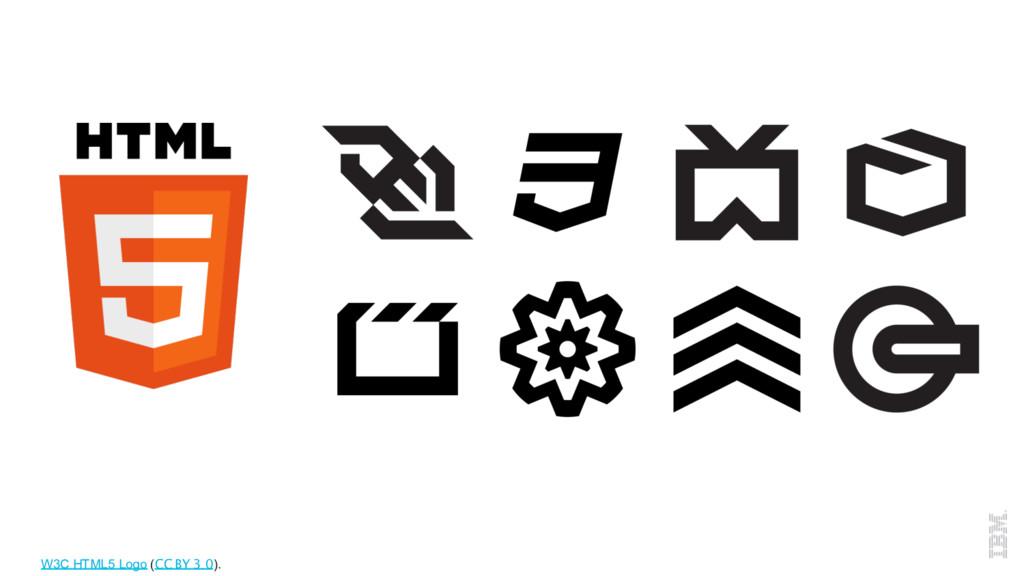 W3C HTML5 Logo (CC BY 3.0).