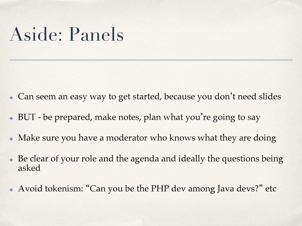 Aside: Panels