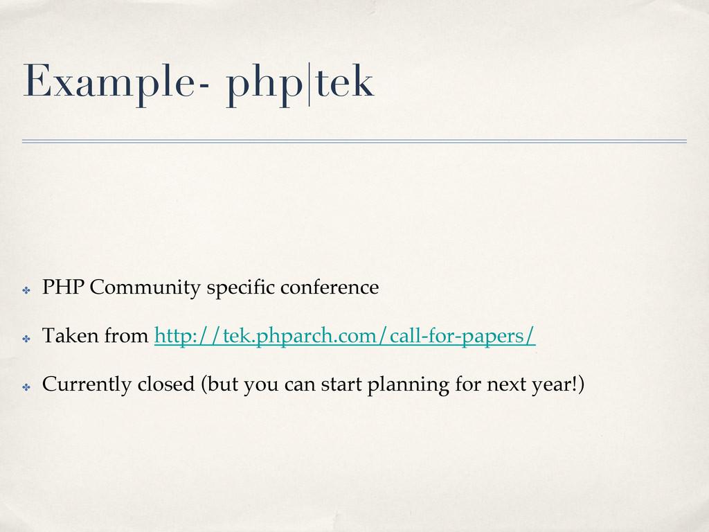 Example- php|tek