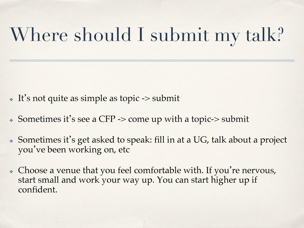 Where should I submit my talk?