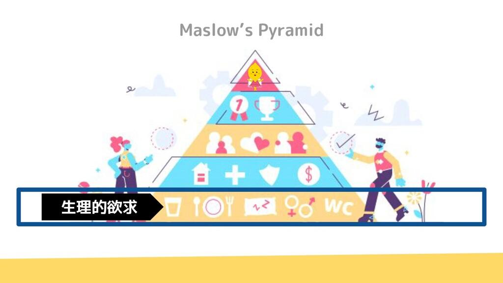 Maslow's Pyramid 生理的欲求