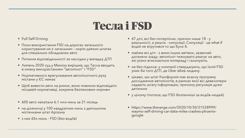 Тесла і FSD • Full Self-Driving • Поки використ...