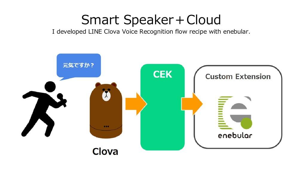 Smart Speaker+Cloud I developed LINE Clova Voic...