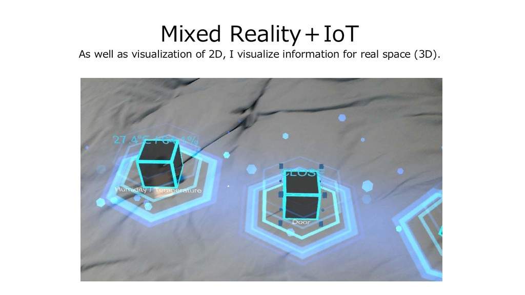 Mixed Reality+IoT As well as visualization of 2...