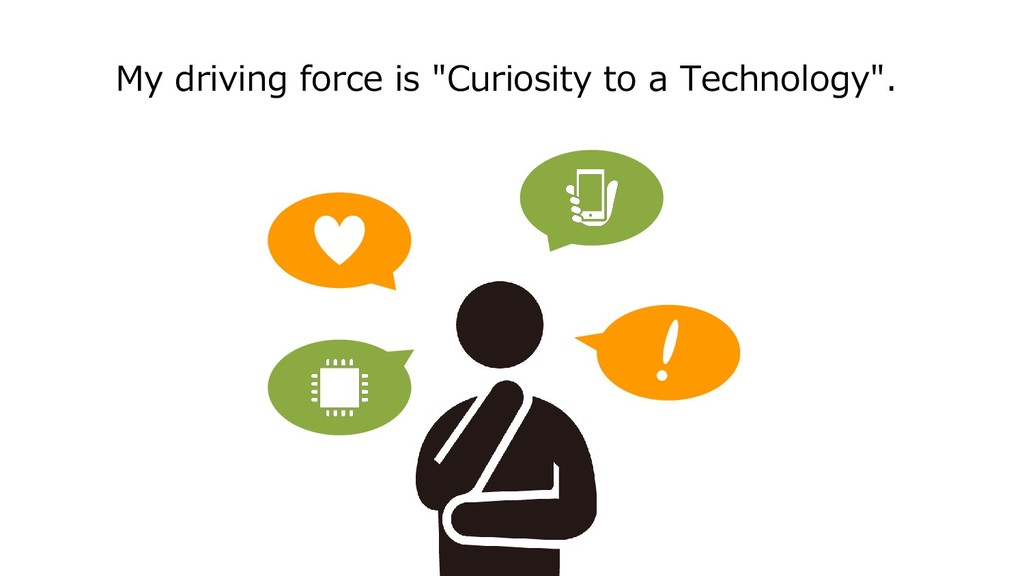 """My driving force is """"Curiosity to a Technology""""."""