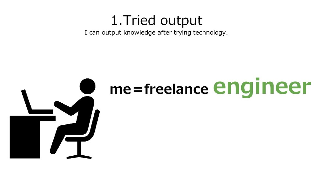1.Tried output I can output knowledge after try...
