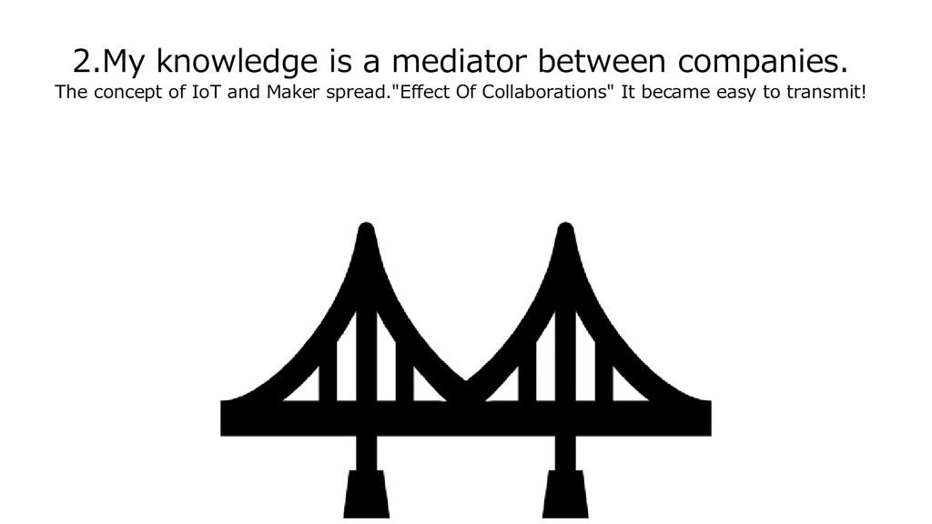 2.My knowledge is a mediator between companies....