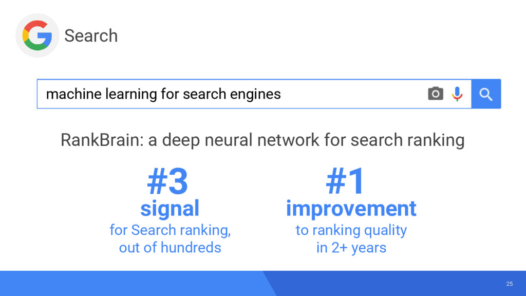 25 signal for Search ranking, out of hundreds i...