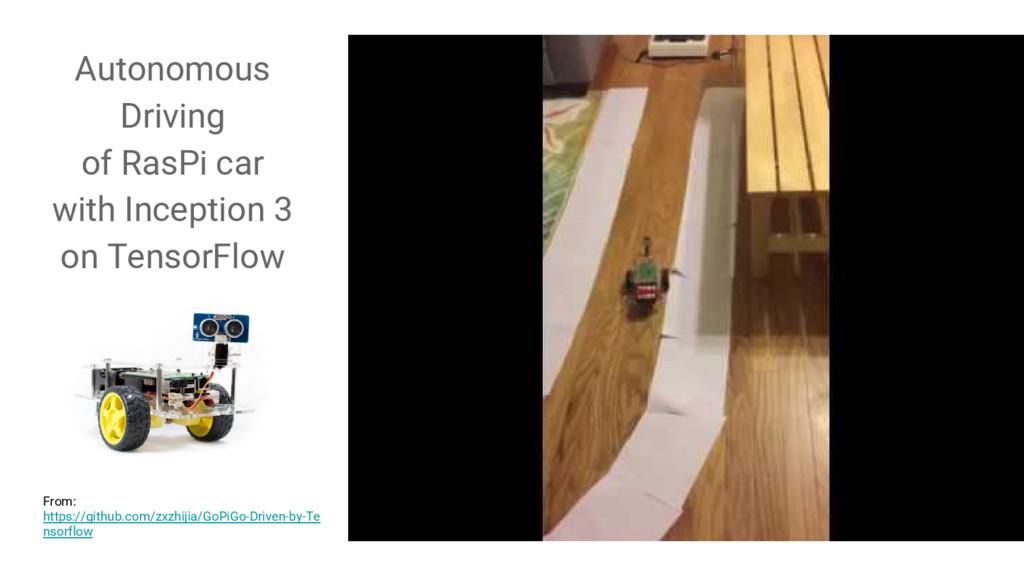 Autonomous Driving of RasPi car with Inception ...