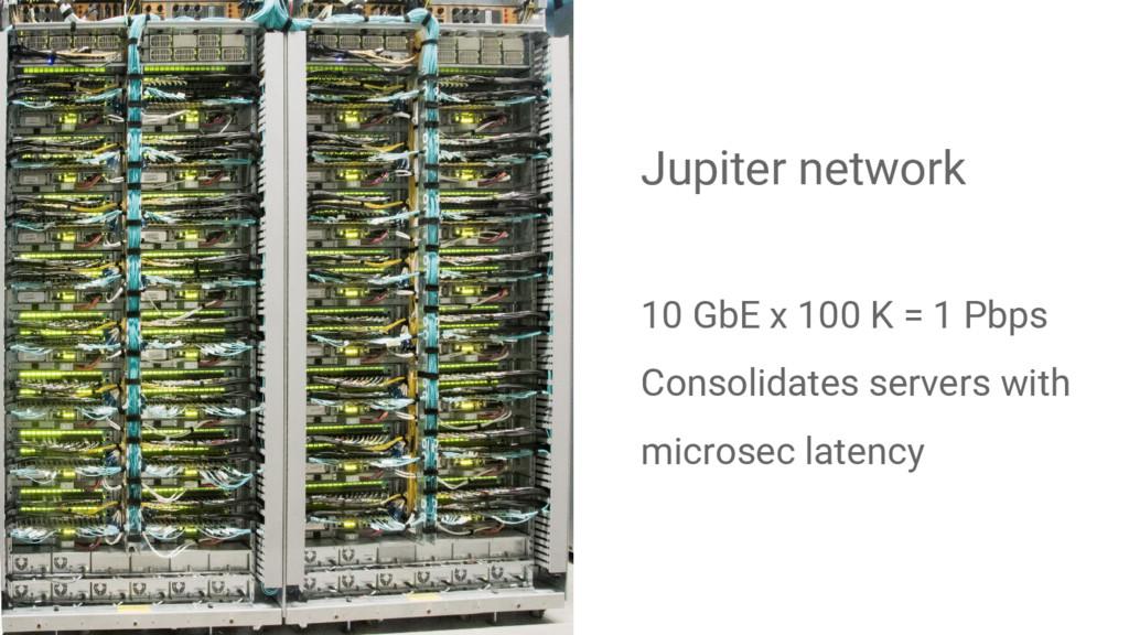 Jupiter network 10 GbE x 100 K = 1 Pbps Consoli...