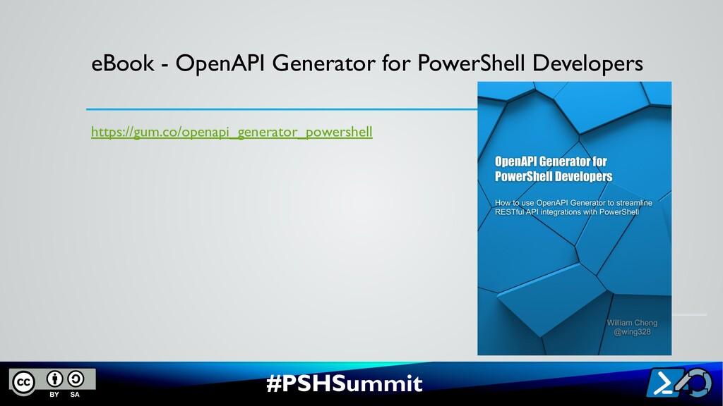 #PSHSummit eBook - OpenAPI Generator for PowerS...