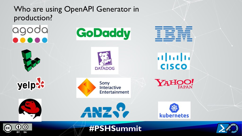 #PSHSummit Who are using OpenAPI Generator in p...