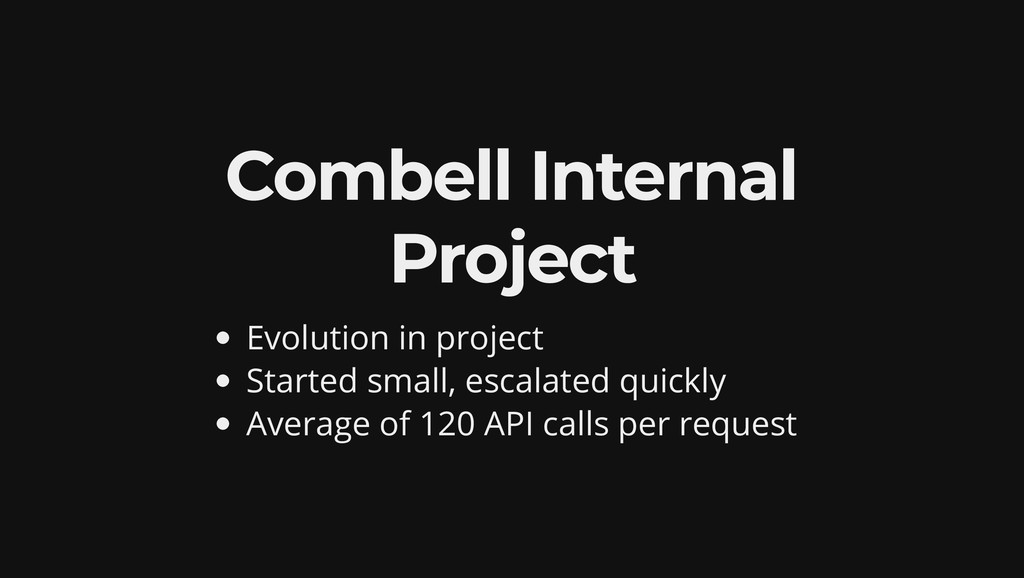 Combell Internal Project Evolution in project S...
