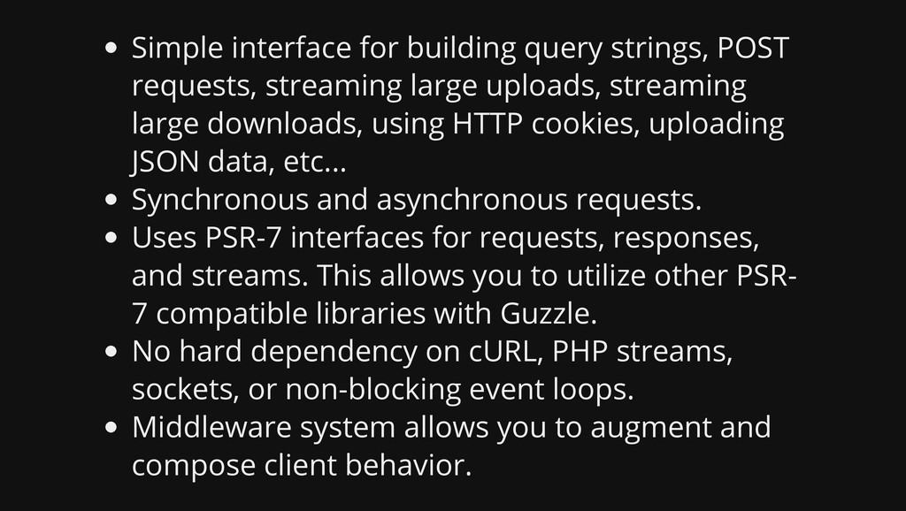 Simple interface for building query strings, PO...