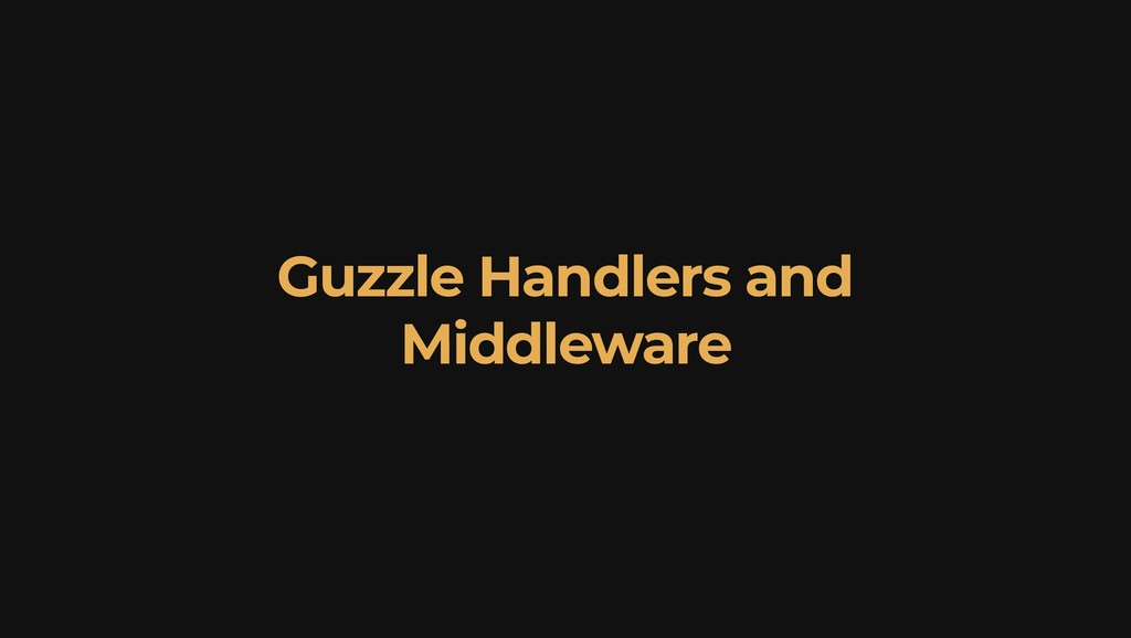 Guzzle Handlers and Middleware