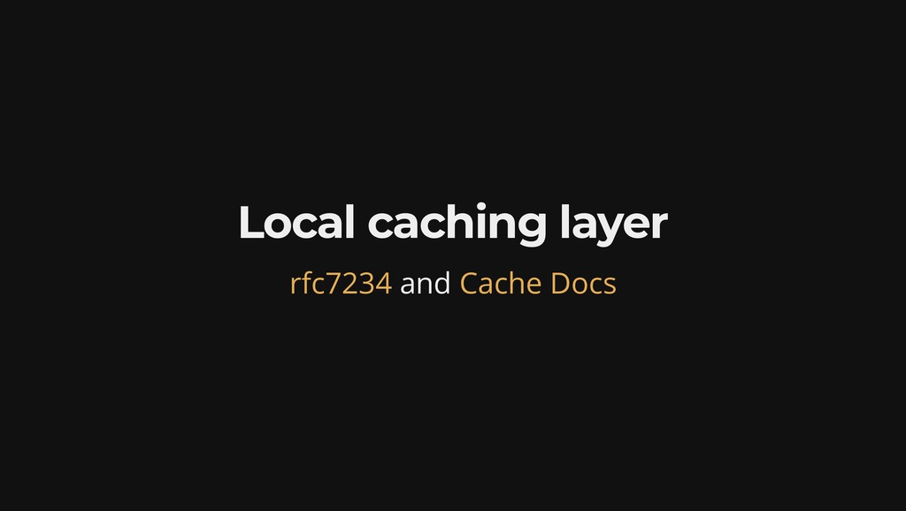 Local caching layer and rfc7234 Cache Docs