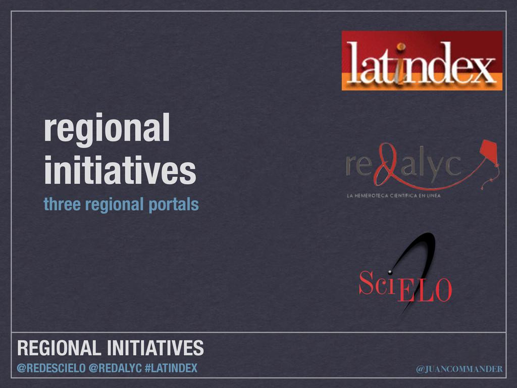 REGIONAL INITIATIVES @REDESCIELO @REDALYC #LATI...