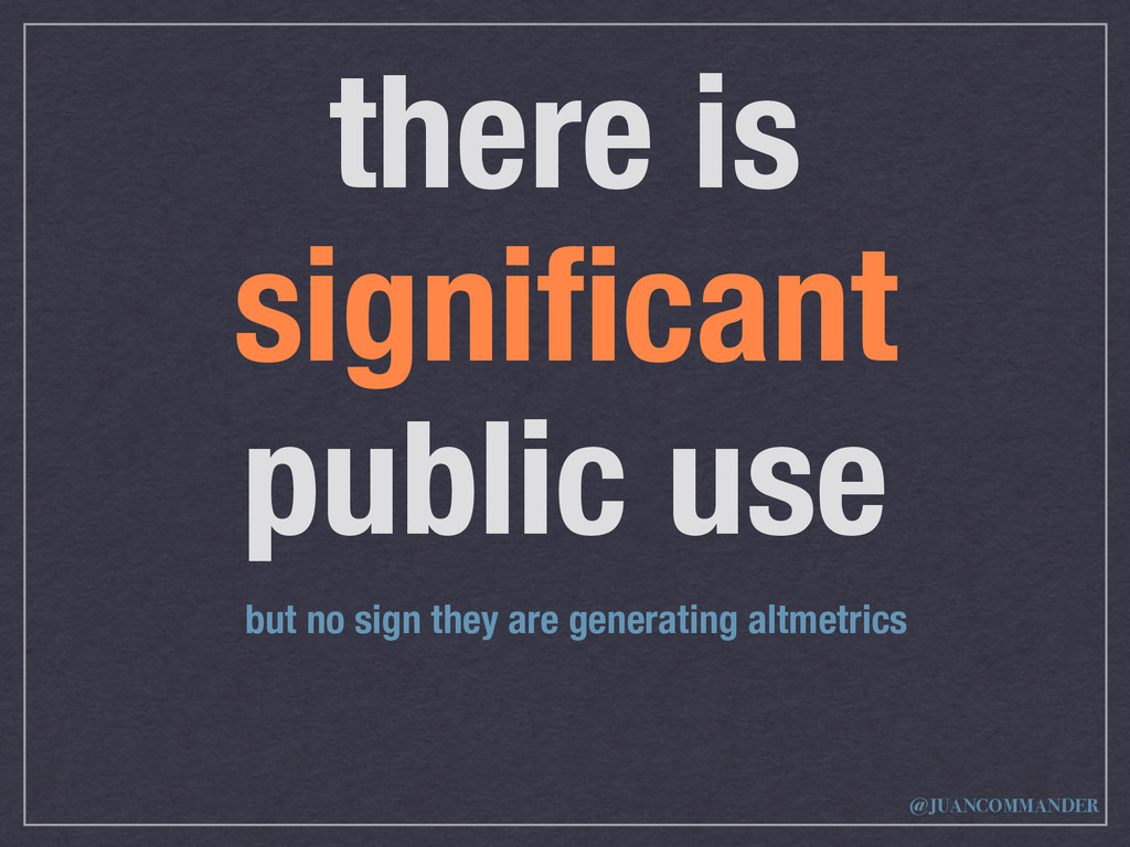 there is significant public use but no sign they...