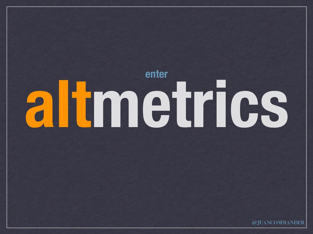 altmetrics enter @JUANCOMMANDER