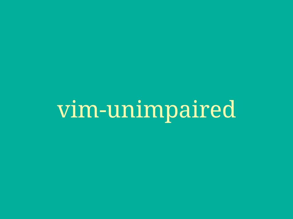 vim-unimpaired