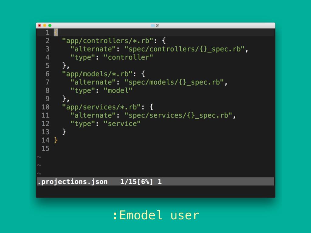 :Emodel user