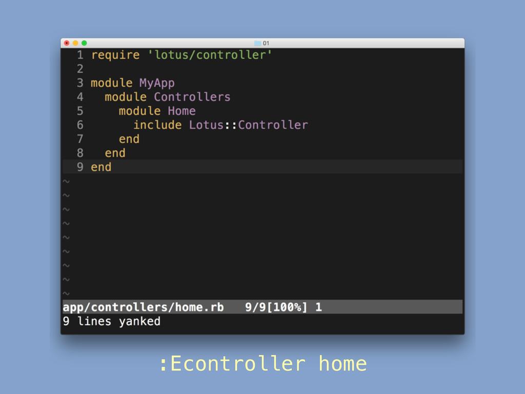 :Econtroller home