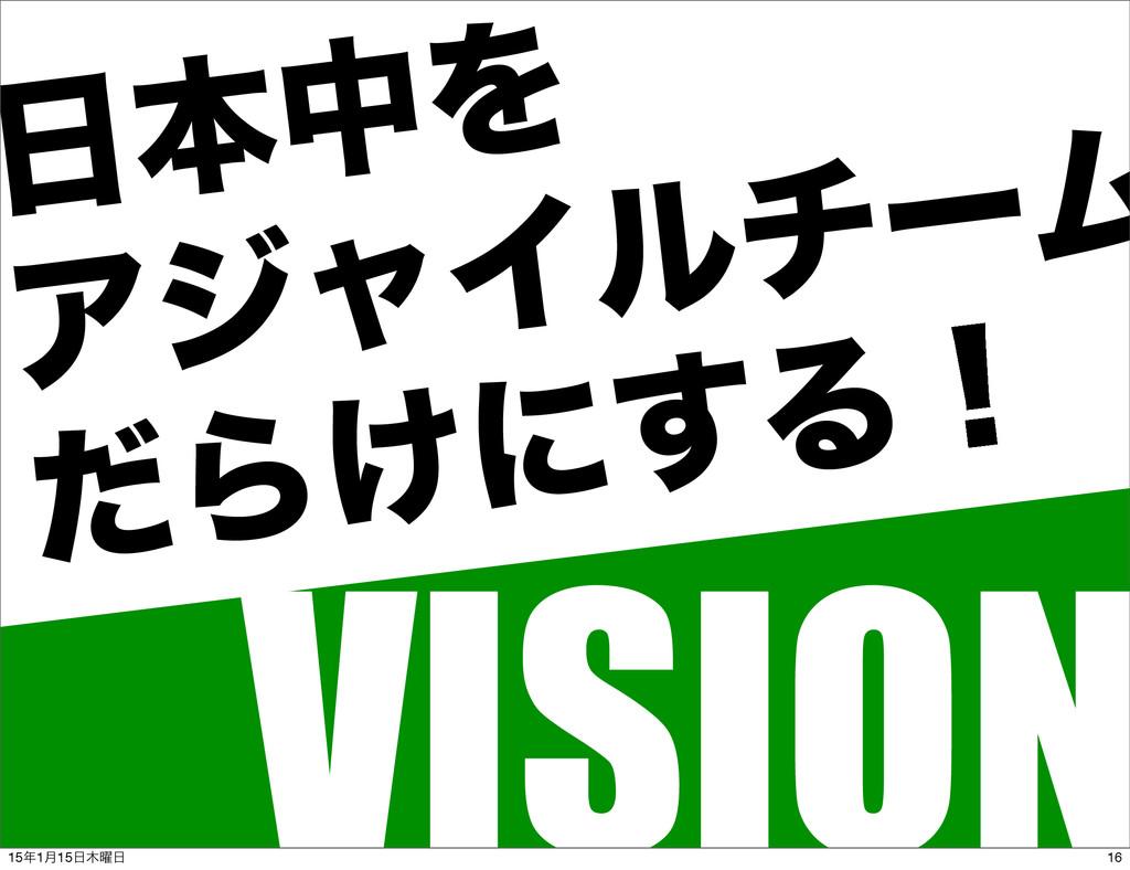 ຊதΛ ΞδϟΠϧνʔϜ ͩΒ͚ʹ͢Δʂ VISION 16 151݄15༵