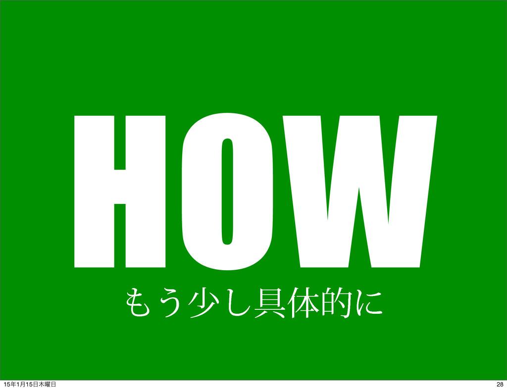 HOW ͏গ͠۩ମతʹ 28 151݄15༵