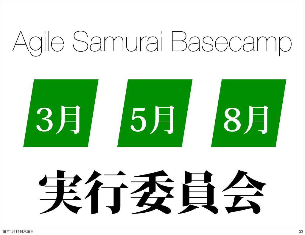 Agile Samurai Basecamp ݄ ݄ ݄ ࣮ߦҕһձ 32 151݄1...