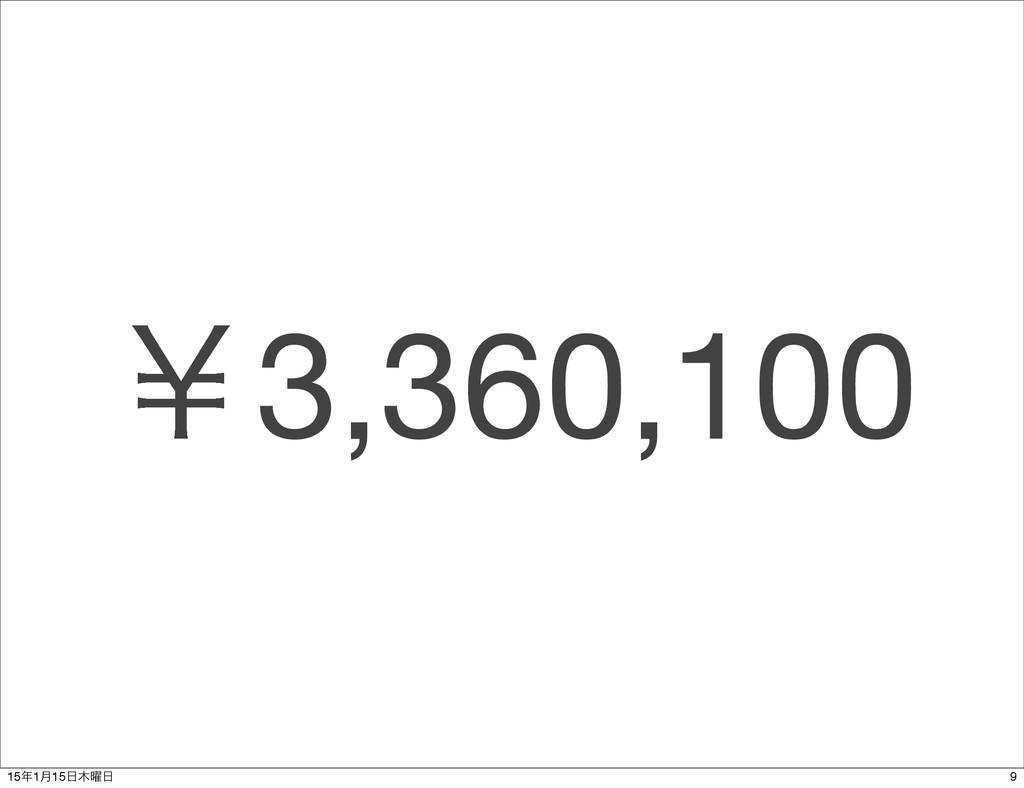 ˇ3,360,100 9 151݄15༵