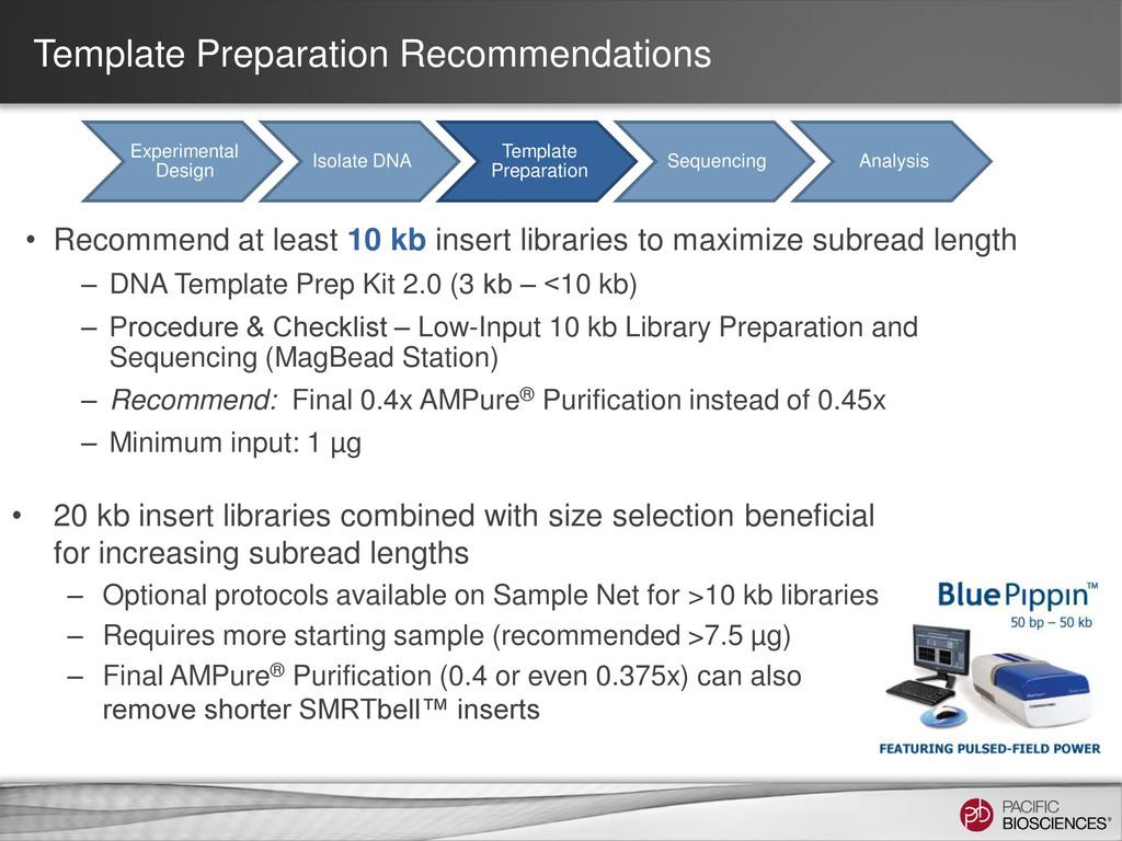 Template Preparation Recommendations • Recommen...