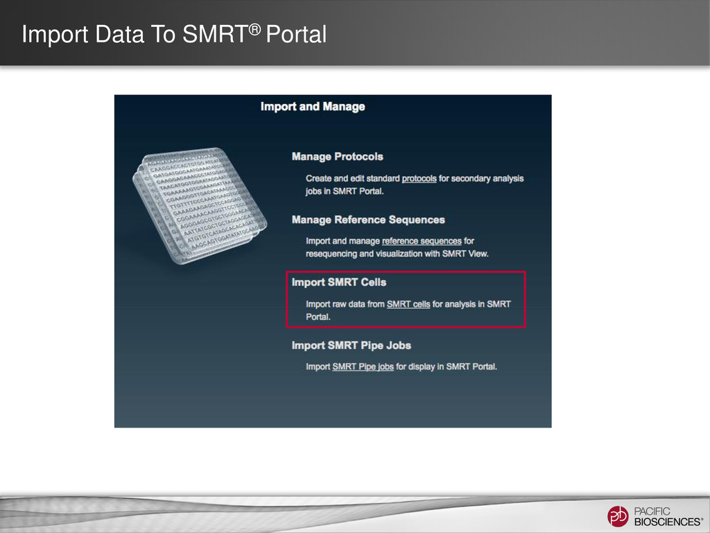 Import Data To SMRT® Portal