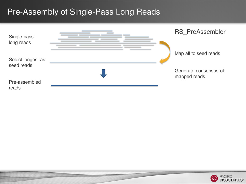 Map all to seed reads Single-pass long reads Se...
