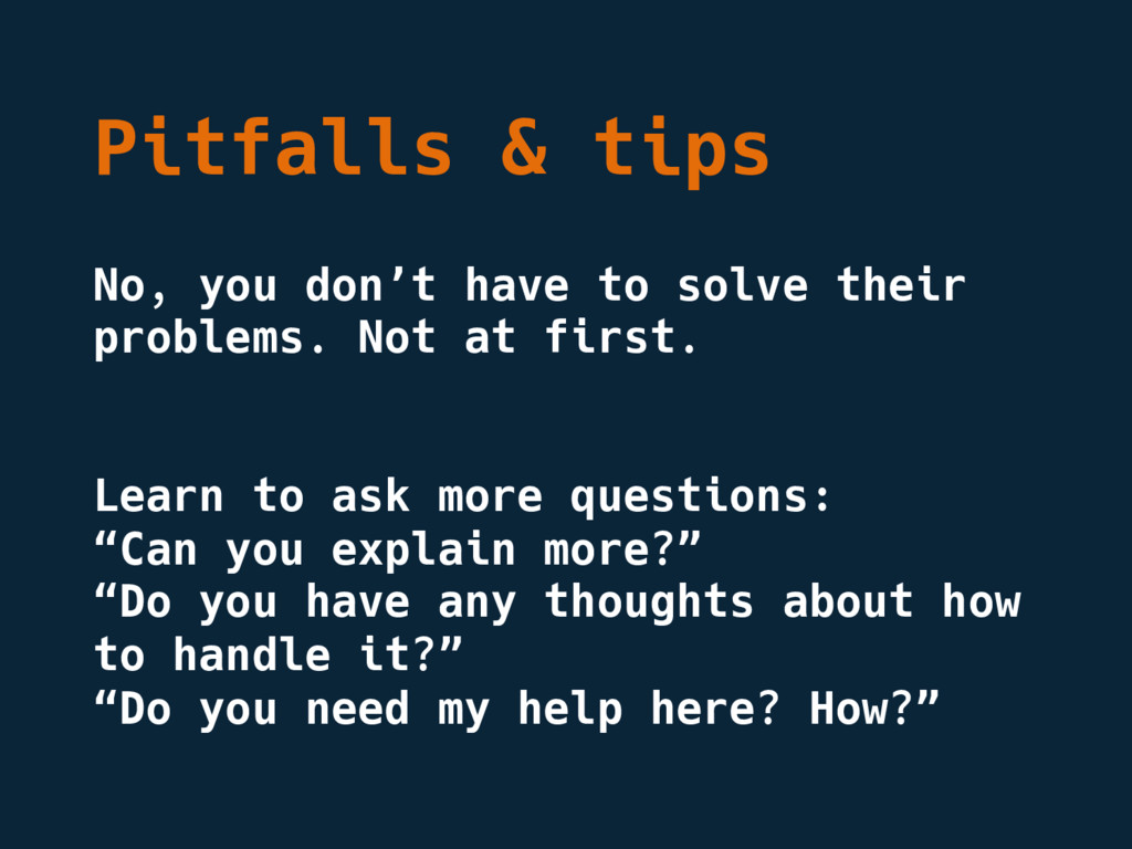 Pitfalls & tips No, you don't have to solve the...