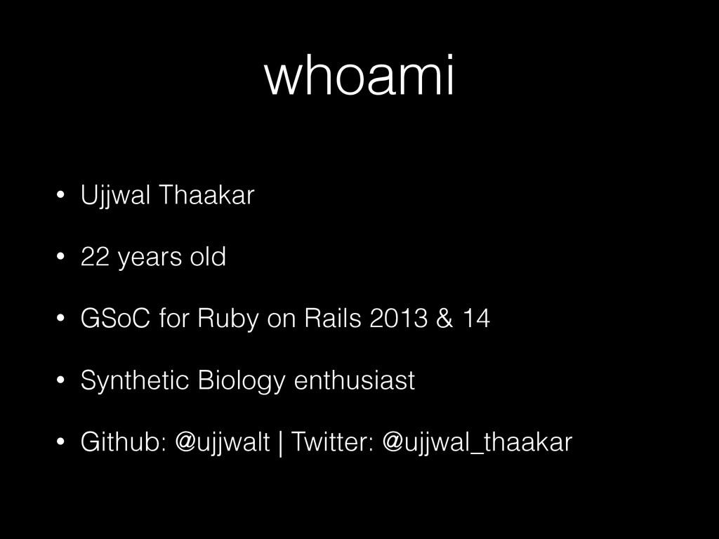 whoami • Ujjwal Thaakar • 22 years old • GSoC f...