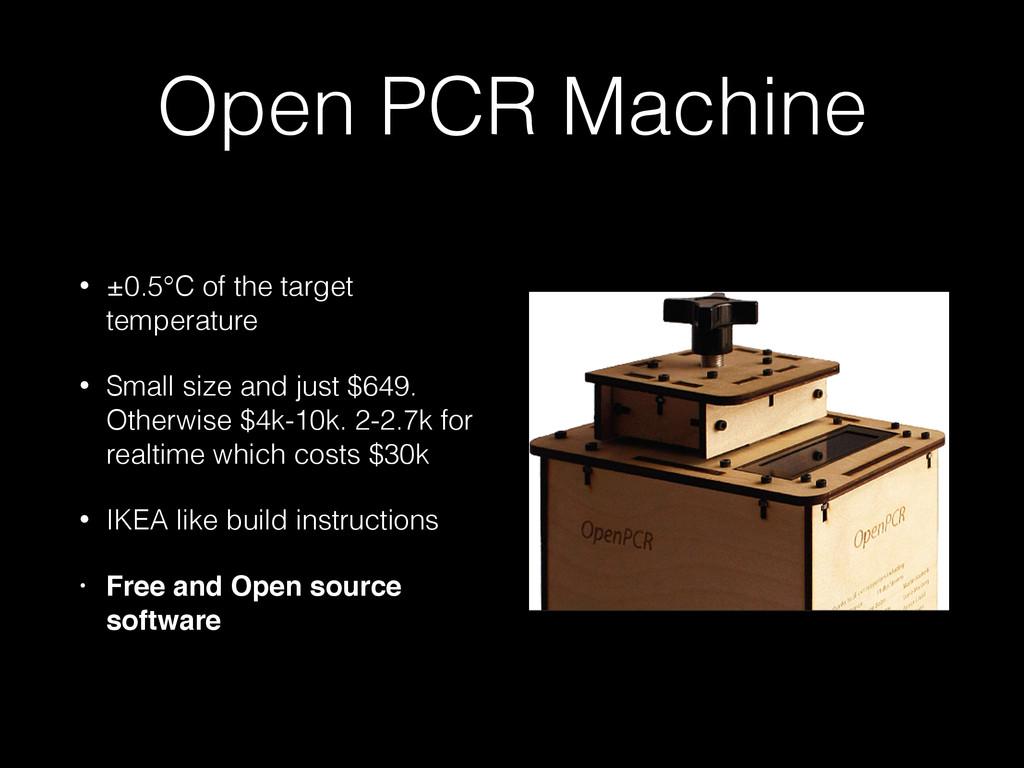 Open PCR Machine • ±0.5°C of the target tempera...