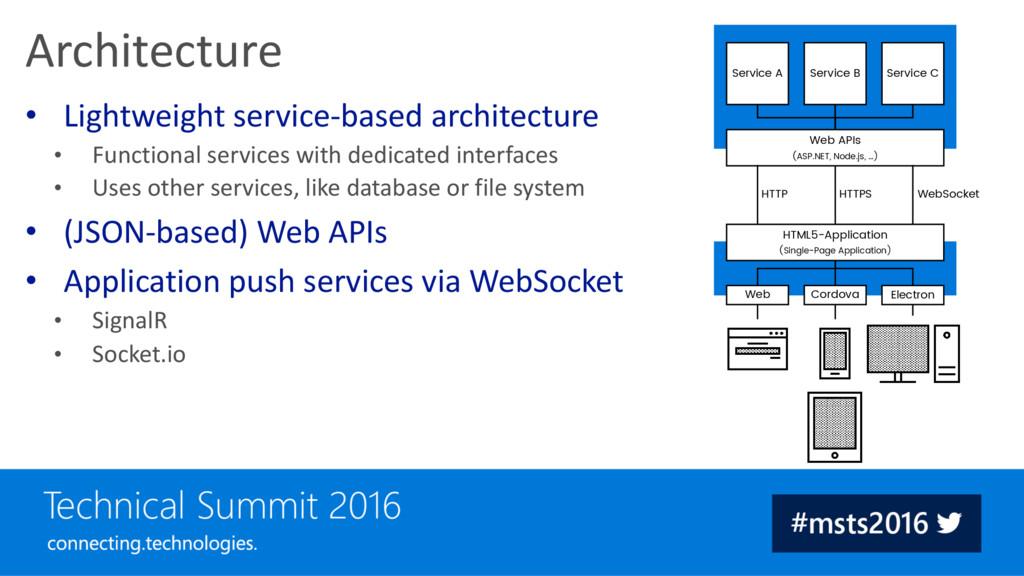 HTTP HTTPS WebSocket Service A Service B Servic...