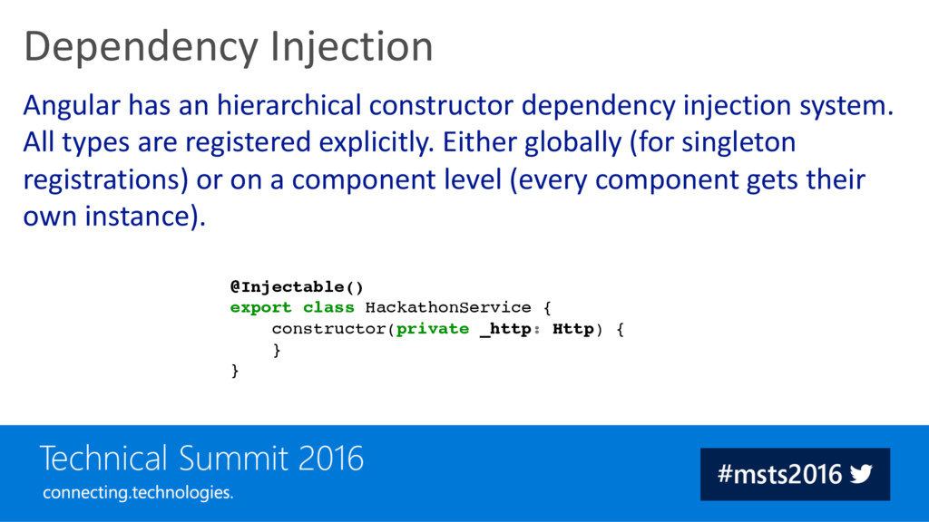 Angular has an hierarchical constructor depende...
