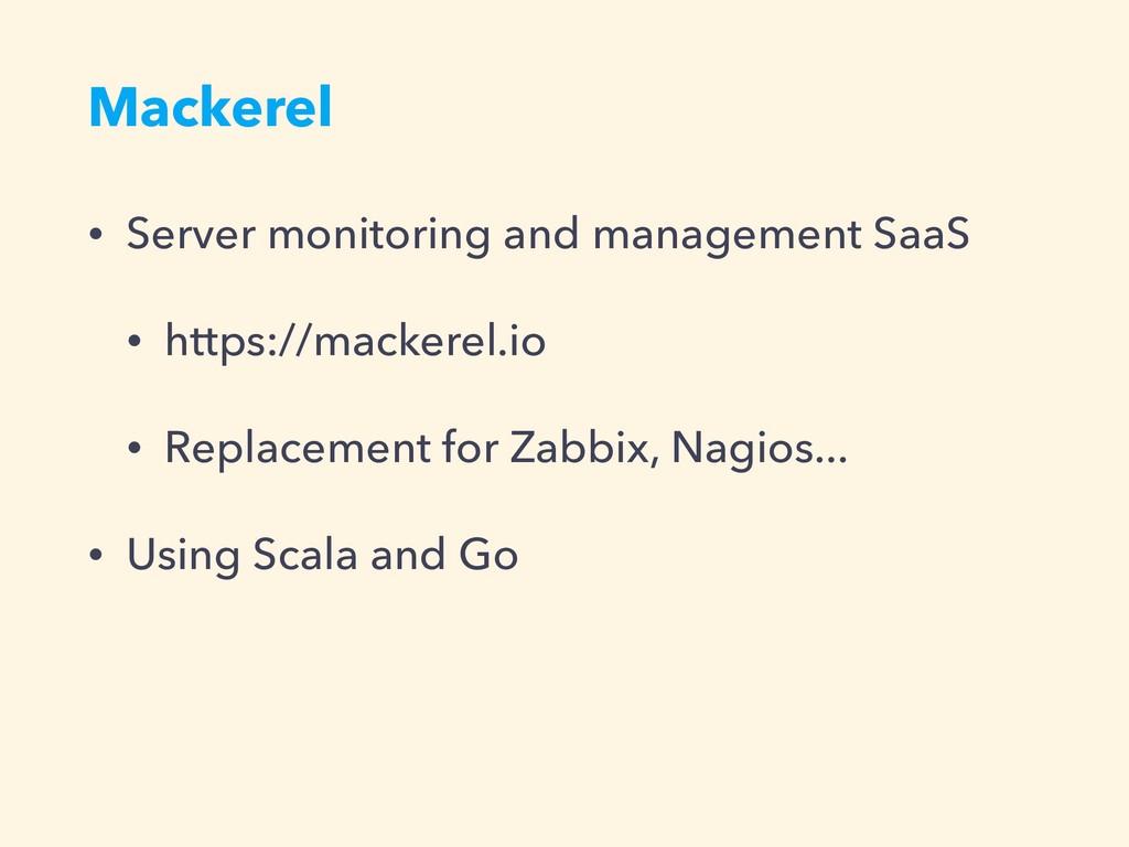 Mackerel • Server monitoring and management Saa...
