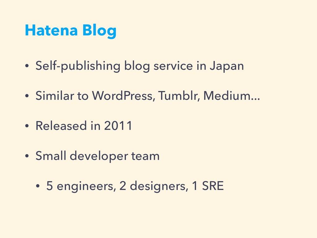 Hatena Blog • Self-publishing blog service in J...