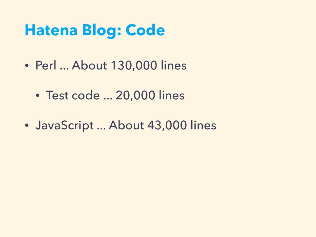 Hatena Blog: Code • Perl ... About 130,000 line...