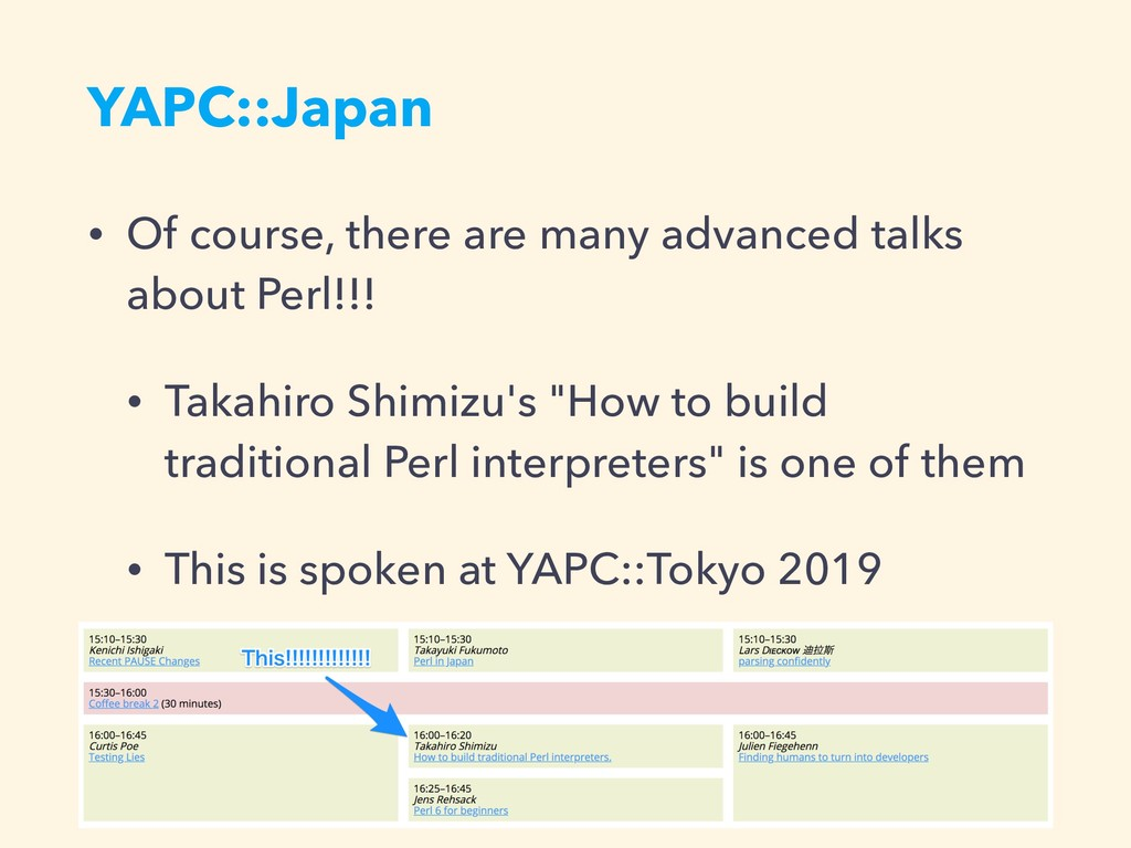 YAPC::Japan • Of course, there are many advance...