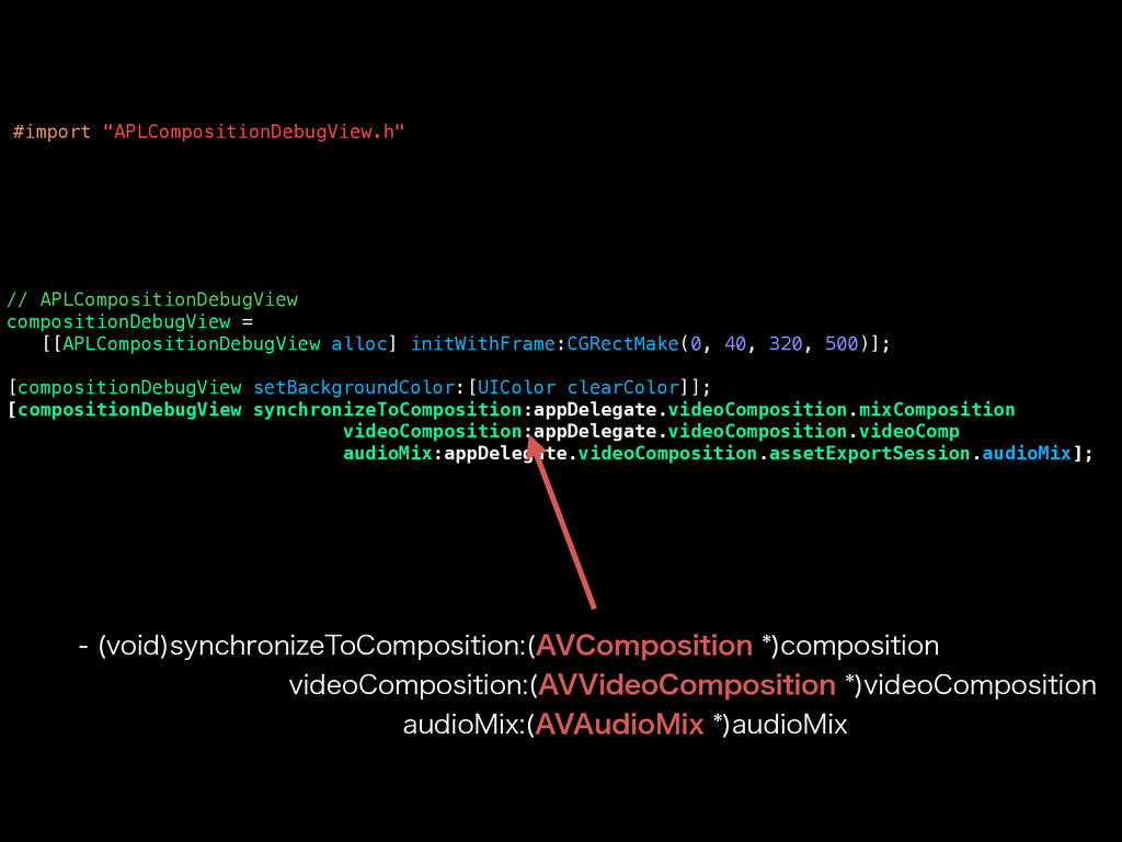 // APLCompositionDebugView compositionDebugView...