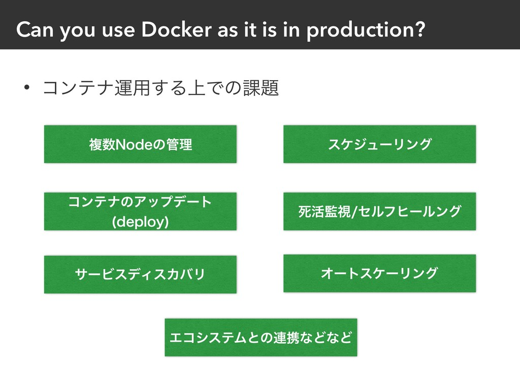 Can you use Docker as it is in production? • ίϯ...