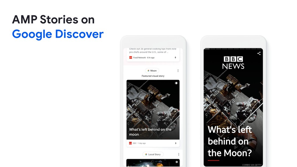 AMP Stories on   Google Discover