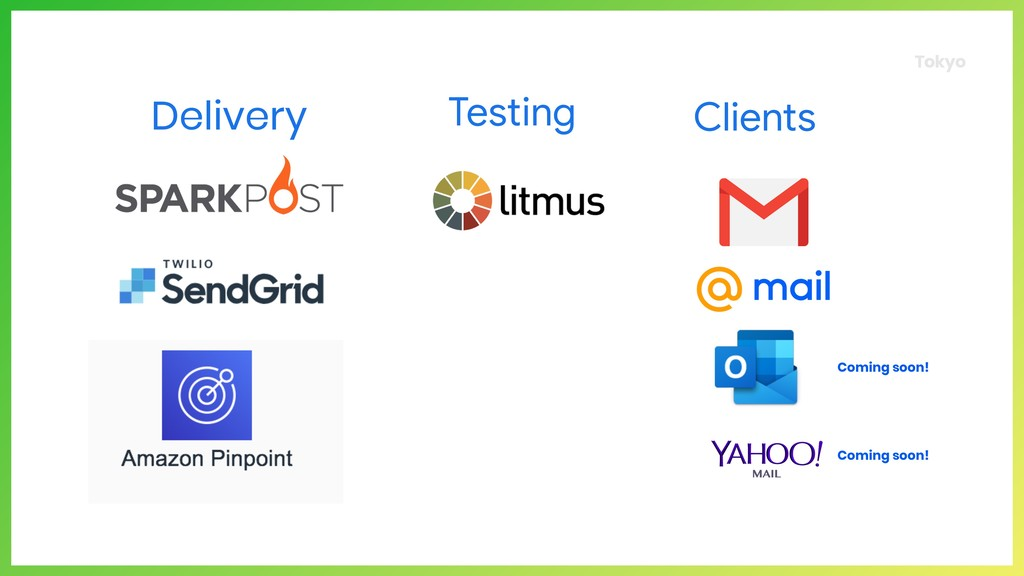 Tokyo Delivery Testing Clients Coming soon! Com...