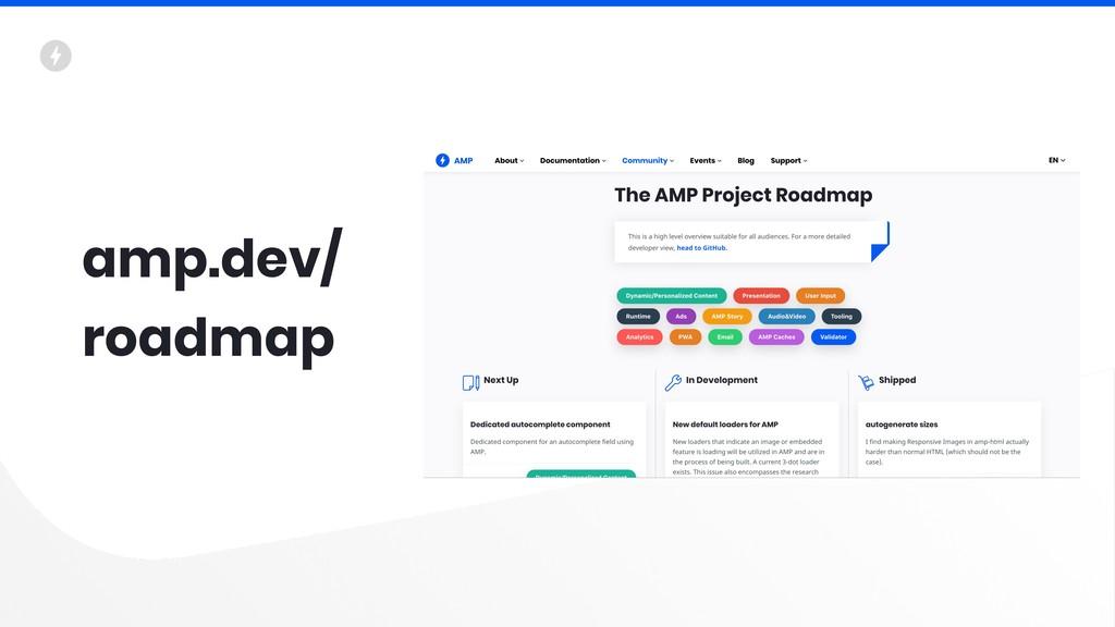 amp.dev/ roadmap