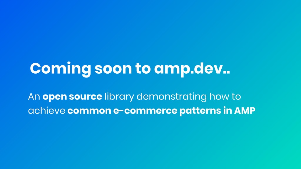 Coming soon to amp.dev.. An open source library...