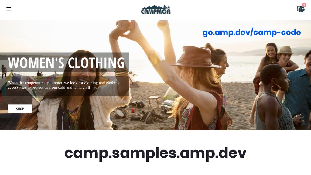 camp.samples.amp.dev go.amp.dev/camp-code